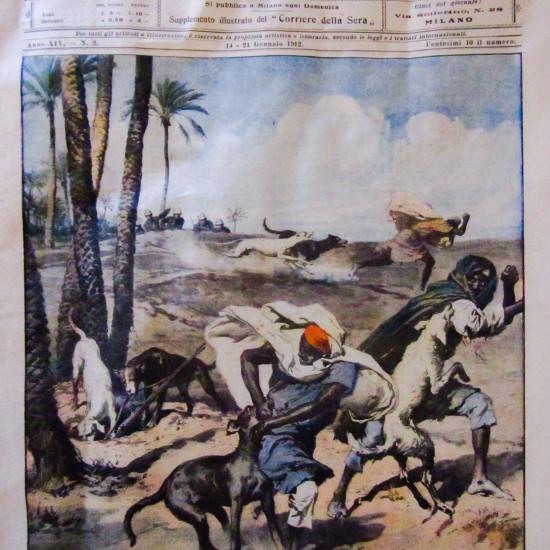 La domenica del Corriere del 1912 - disegno di E. Bersane -